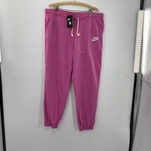 Woman's Nike Vintage Gym Joggers  Pink Size XLarge